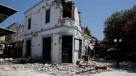 Kos i danni del terremoto (Lapresse)