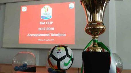 Varato il tabellone della Coppa Italia (foto dal sito della Lega di Serie A)