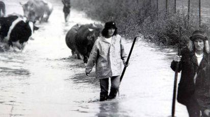Un'immagine dell'alluvione del 1987 (National Press)