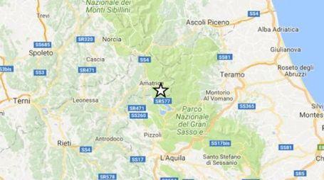 Terremoto tra Campotosto e Amatrice: la cartina del sito dell'Ingv