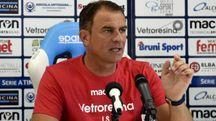 L'allenatore della Spal Leonardo Semplici (foto archivio Bp)