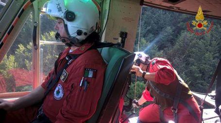 Il soccorso dei vigili del fuoco