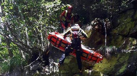 L'intervento del soccorso alpino a Edolo
