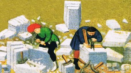Due minuti di storia - Gli sgrezzatori di pietra che costruivano i castelli