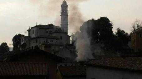 L'incendio a Molteno