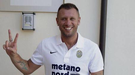Antonio Cassano al Verona (foto Ansa)