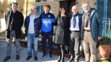 Bellandi, Fanucci e il vicequestore Ferasin durante un sopralluogo all'ex casa di riposo