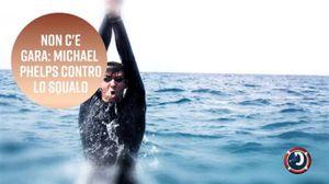 Michael Phelps contro lo squalo: non c'è gara... o sì?
