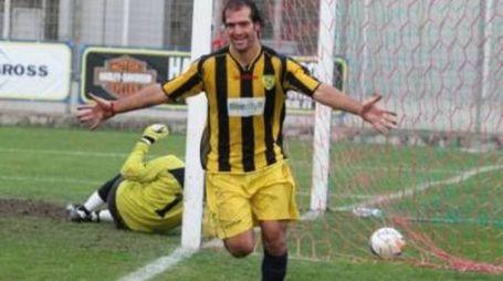 L'attaccante Vegnaduzzo in maglia Viterbese