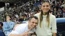 Antonio Cassano con la moglie Carolina Marcialis (Ansa)