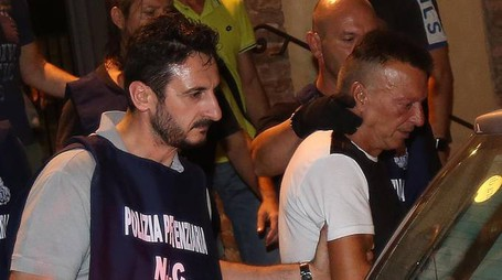 SODDISFATTI Gli uomini della polizia con il questore Piccolotti
