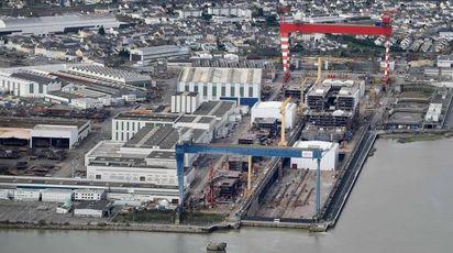 I cantieri Stx France di Saint Nazaire (Afp)