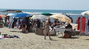 Foto scattate ieri sulla spiaggia della Conca d'Oro: ogni giorno è così