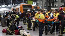 Barcellona, incidente in stazione (Ansa)