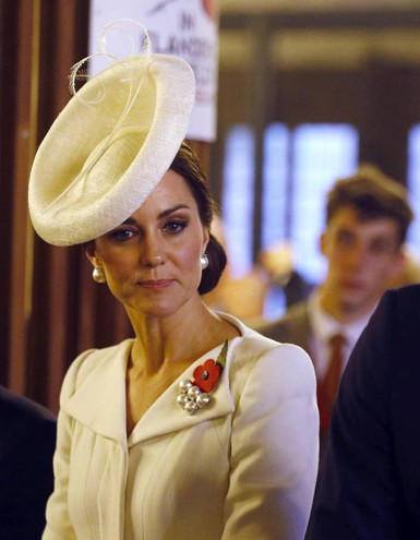Kate Middleton in Belgio (Ansa)