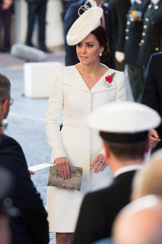 Kate Middleton in Belgio (Ansa)Afp)