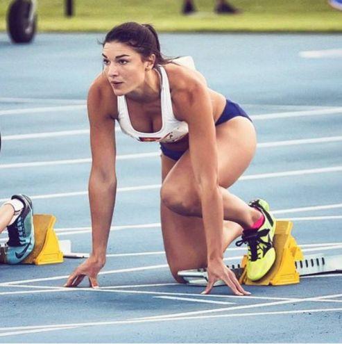 Michelle Jenneke, 24 anni, australiana: gareggia nei 100 metri ostacoli. Argento nei Giochi olimpici giovanili di Singapore nel 2010 (Instagram)