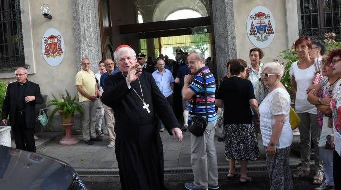 Il cardinale Angelo Scola a Triuggio (Brianza)
