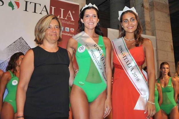 Da sin l'assessore Bracali, Giada Merli e la Miss Italia in carica Giada Risaliti