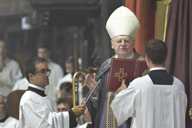 I funerali di Dionigi Tettamanzi nel Duomo di Milano (Ansa)