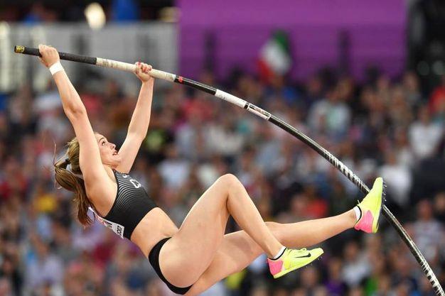 Alysha Newman alla finale del salto con l'asta (Lapresse)
