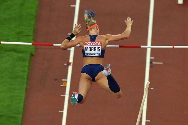 Sandi Morris, salto con l'asta (afp)