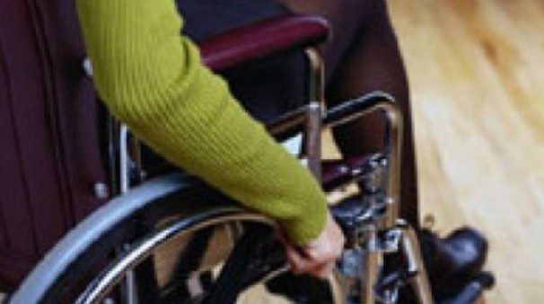 Una donna disabile