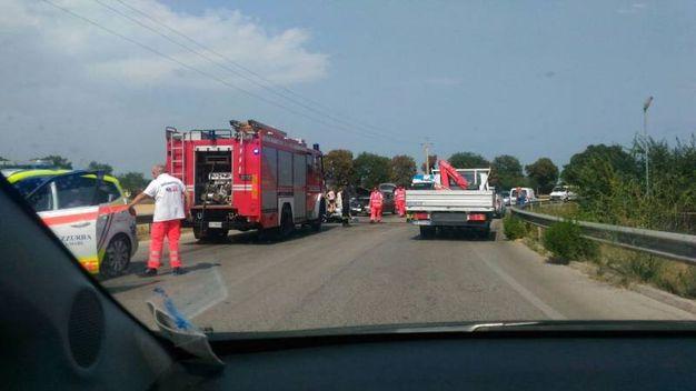 Lo scontro è avvenuto tra una moto e un'auto (foto Zeppilli)