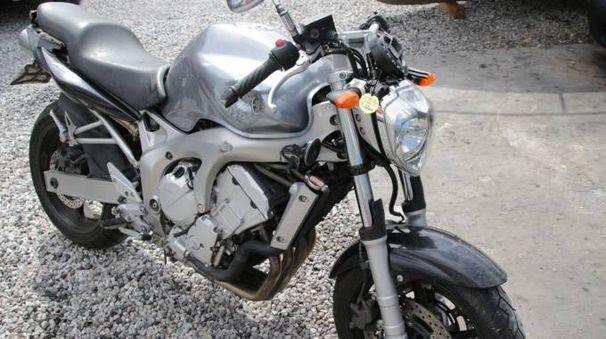 La moto della vittima (Foto Umicini)