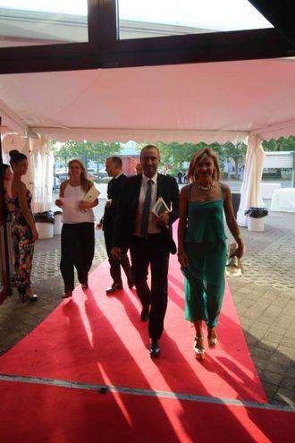 Il sindaco Matteo Ricci con signora (Fotoprint)