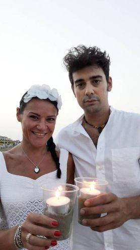 Cena in bianco a lume di candela (Fotoprint)