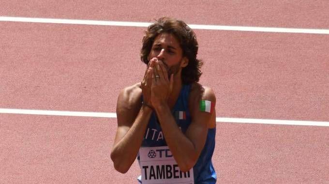 La disperazione di Tamberi dopo l'eliminazione (Afp)
