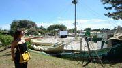 Il Teatro tenda distrutto dal maltempo (foto Donzelli)