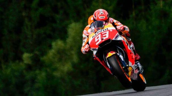 MotoGp Austria, Marc Marquez in pole (Afp)