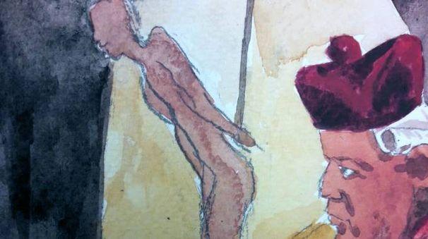 Il supplizio di Carlo Sala (illustrazione Guido Bandera)