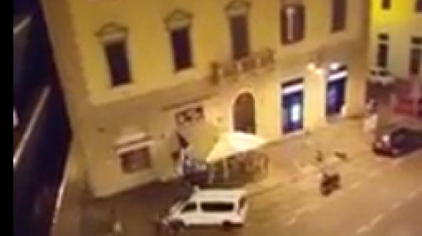 Rissa in piazza Cavour