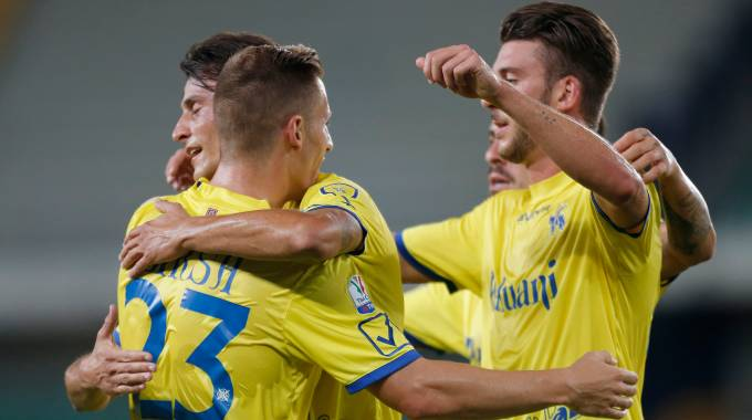 Chievo Verona-Ascoli, gol di Inglese (LaPresse)