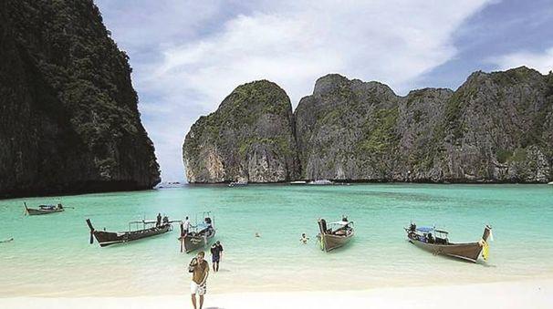 Una delle Phi Phi Island, in Thailandia, classica meta per turisti (Foto d'archivio)