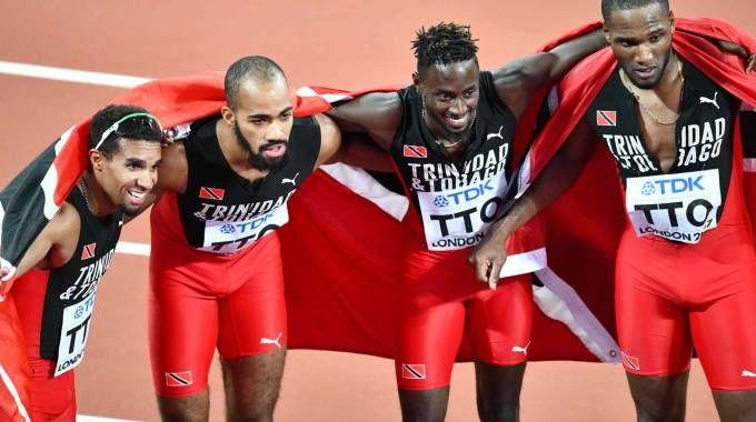 Londra 2017, Trinidad e Tobago oro nella 4x400 (Afp)