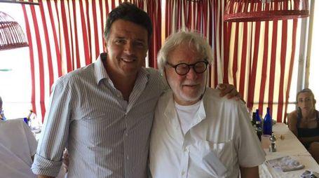 Matteo Renzi e lo chef Giuseppe Basso