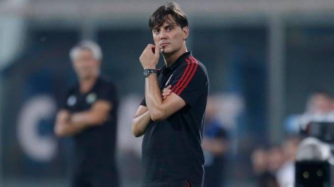 Milan, l'allenatore Vincenzo Montella