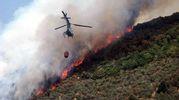 Incendio sul monte Prana