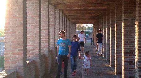 Visitatori alla Rocca il giorno di Ferragosto