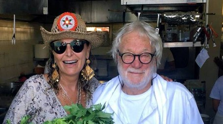 Daniela Santanchè all'isola Palmaria alla Locanda Lorena con lo chef Giuseppe Basso