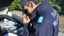 E' intervenuta la polizia municipale (Frasca)