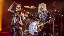 Adam Lambert e Brian May dei Queen (foto Ansa)