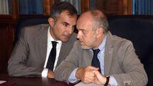 Il sindaco Tiziano Tagliani e l'assessore alla sicurezza Aldo Modonesi