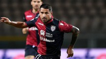 Marco Borriello con la maglia del Cagliari (foto LaPresse)