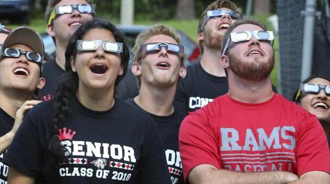 America, tutto pronto per l'eclissi totale di sole (Ansa)