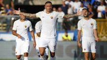 Kolarov segna lo 0-1 su punizione (Afp)